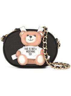 сумка с заплаткой в виде плюшевого медведя Moschino