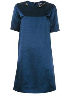 платье шифт с декорированной горловиной S Max Mara
