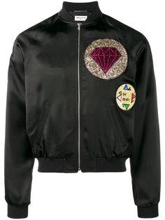 glitter embellished bomber jacket Saint Laurent
