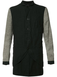 contrasting sleeve shirt jacket Ziggy Chen