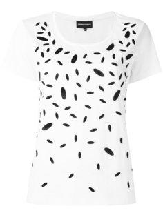 футболка с контрастным принтом Emporio Armani