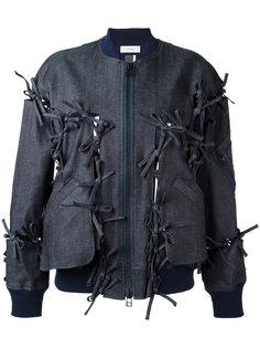 куртка бомбер с завязками Facetasm