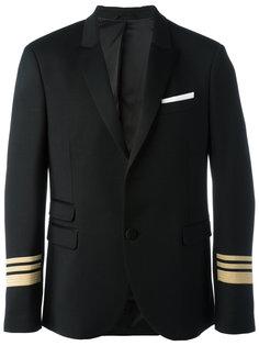 пиджак с полосатыми манжетами Neil Barrett