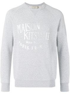 толстовкас принтом логотипа Maison Kitsuné