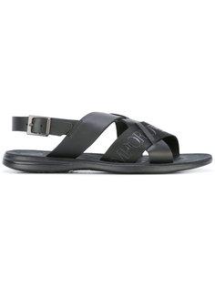 сандалии с принтом-логотипом Emporio Armani