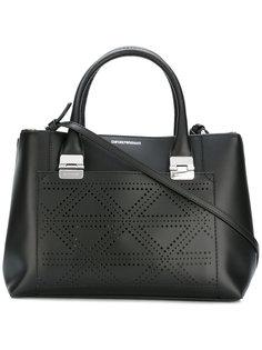 сумка-тоут с перфорированной окантовкой Emporio Armani