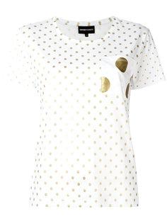 футболка с узором в горох Emporio Armani
