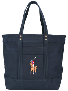 сумка-тоут с вышитым логотипом Polo Ralph Lauren