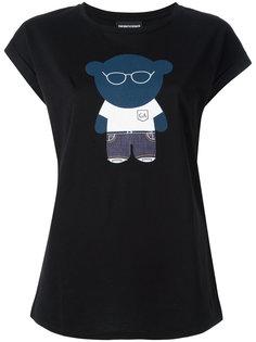 футболка с принтом медведя Emporio Armani
