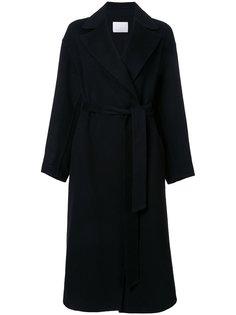 однобортное пальто с поясом Rito