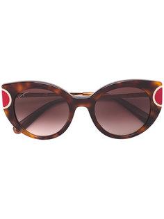 """солнцезащитные очки  с оправой """"кошачий глаз"""" Salvatore Ferragamo"""