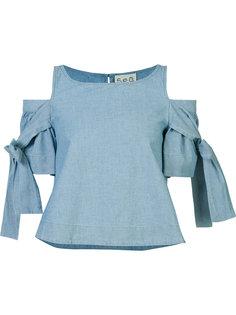 cold-shoulder blouse Sea