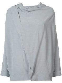 draped shoulder blouse Just Female