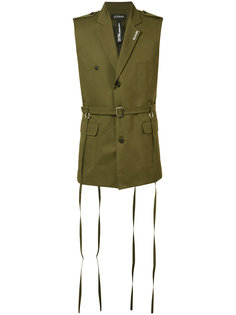 sleeveless military jacket Icosae