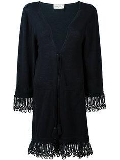 пальто-кардиган с кисточками на завязках Antonia Zander