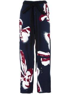 floral print wide trousers Cédric Charlier