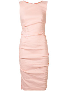 ruched fitted dress Nicole Miller