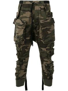 спортивные брюки с камуфляжным принтом Unravel Project