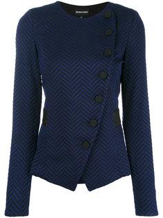 приталенный пиджак на пуговицах Emporio Armani
