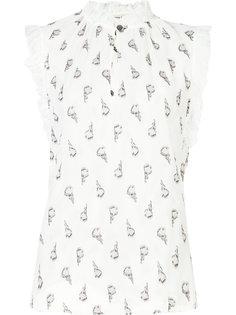 floral print sleeveless blouse Rebecca Taylor