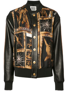 art print bomber jacket Fausto Puglisi