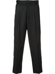 pleat detail cropped trousers Icosae