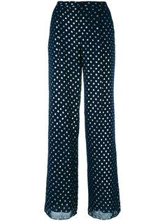 расклешенные брюки с принтом в горох Emporio Armani