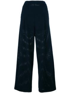 брюки с перфорацией Emporio Armani