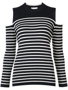 cut-out shoulders striped T-shirt Just Female
