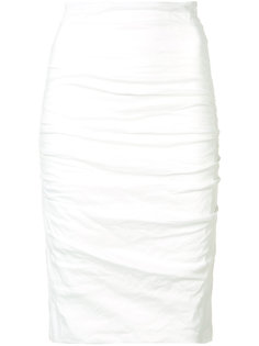 ruched pencil skirt Nicole Miller
