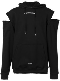 cut-out shoulders hoody Icosae