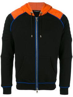 zip-up biker hoodie Balmain