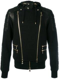 biker zip-up hoodie Balmain