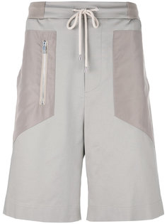 zip detail drawstring shorts Les Hommes Urban