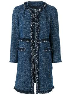 твидовое пальто Theory