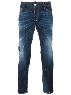 рваные джинсы Clement с имитацией заломов Dsquared2