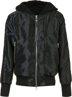 hooded bomber jacket  Daniel Patrick