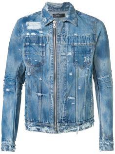 джинсовая куртка с потертой отделкой Amiri