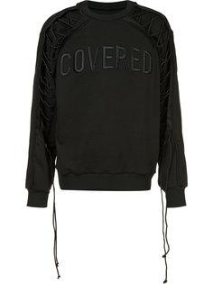 lace-sleeve sweatshirt  Juun.J