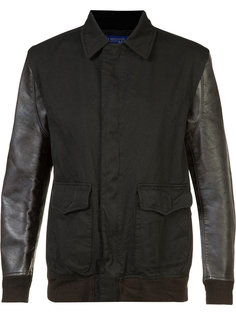 contrast sleeve bomber jacket  Junya Watanabe Comme Des Garçons