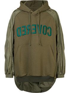 contrast sleeve hoodie  Juun.J