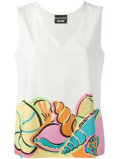 mermaid print T-shirt Boutique Moschino