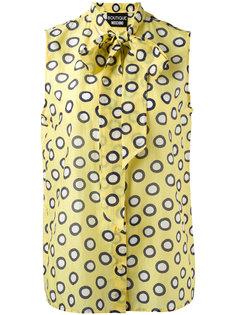 tied neck sleeveless shirt Boutique Moschino