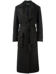 пальто миди с карманами с клапанами  Tom Ford