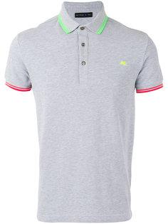 футболка-поло с контрастной окантовкой Etro