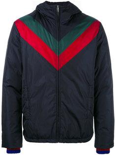стеганая куртка с отделкой Web Gucci