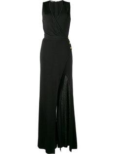 вечернее платье с глубоким разрезом Balmain