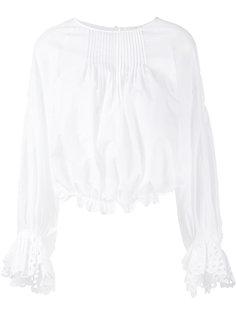 блузка с английской вышивкой Chloé