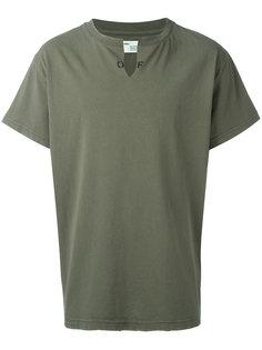 футболка с разрезом на вороте Off-White