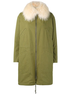 raccoon fur-trimmed parka Army Yves Salomon
